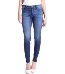 petite women's kut from the kloth mia high waist skinny jeans, size 14p - grey