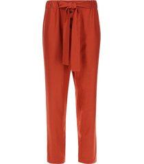 pantalón con botones y lazo color café, talla 12