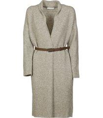 fabiana filippi belted waist cardi-coat