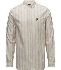ls deckchair stripe shirt overhemd business crème lyle & scott