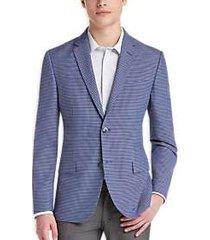 ben sherman plectrum blue check extreme slim fit sport coat
