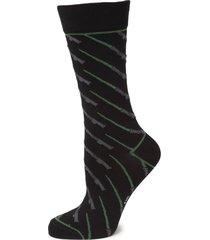men's cufflinks, inc. star wars green lightsaber socks, size one size - black