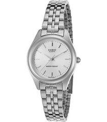 reloj analógico mujer casio ltp-1129a-7a - plateado