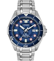 marvel by citizen eco-drive men's promaster the first avenger silver-tone titanium bracelet watch 44mm- a limited edition