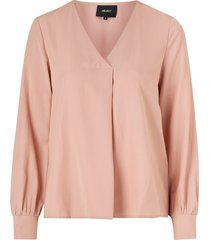 blus objeileen l/s v-neck top