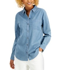 style & co petite boyfriend shirt, created for macy's