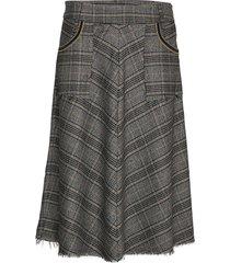 alice milano skirt knälång kjol grå mos mosh