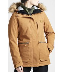 parka de ski mujer into the forest camel billabong