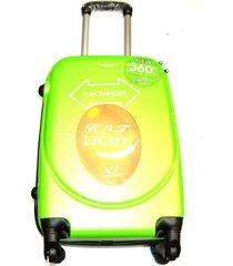 maleta fibra policarbonato 270 mediana 24 pulgadas 4 ruedas - verde manzana