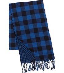men's reversible check scarf