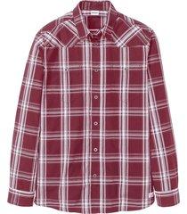 camicia a maniche lunghe (rosso) - john baner jeanswear