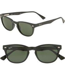 ray-ban retro wayfarer sunglasses in black at nordstrom