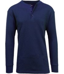 galaxy by harvic men's long sleeve thermal henley tee