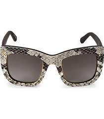 48mm semi cat eye animal-print sunglasses