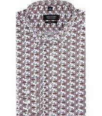 koszula versone 2882 długi rękaw slim fit bordo