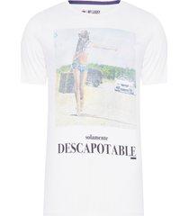 camiseta masculina descapotable - branco
