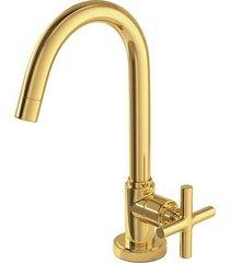 torneira para banheiro mesa duna clássica gold 1198.gl64 - deca - deca