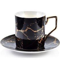 filiżanka porcelanowa marble gold black