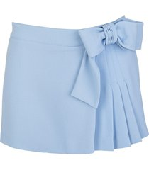 red valentino skirt-style shorts with bow