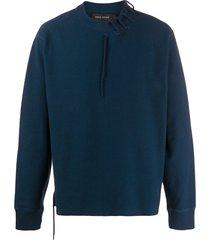 craig green rope lace-up detail sweatshirt - blue