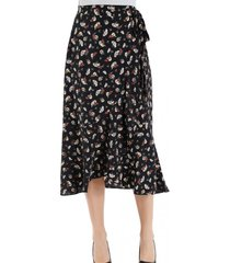falda flores cruzada negro nicopoly