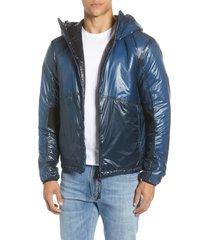 men's c.p. company outline weatherproof hooded goggle jacket, size 52 - blue
