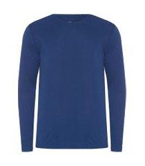 t-shirt masculina pima berlim gola careca regular fit - azul
