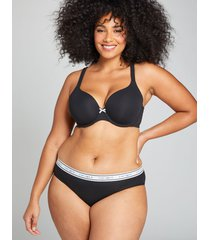 lane bryant women's cotton hipster panty with wide waistband 18/20 black
