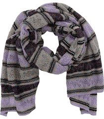 m missoni striped lurex knit scarf