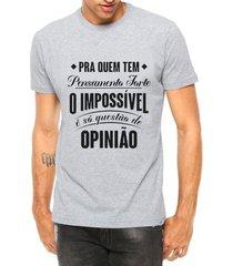 camiseta criativa urbana frases música pensamento forte manga curta - masculino