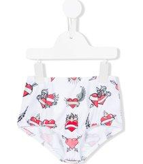caroline bosmans print bikini bottom - white
