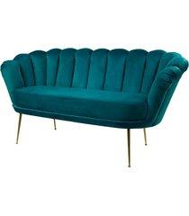sofa turkusowa dwuosobowa tapicerowany lux-4
