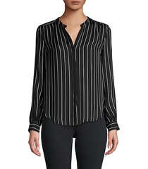 bardot stripe silk shirt