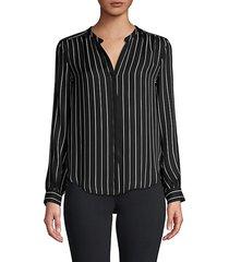 bardot stripe silk shirt