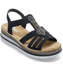 v79g8-14 shoes summer shoes flat sandals blå rieker