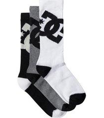 medias calcetines dc shoes dc crew 6 sock ast  hombre original