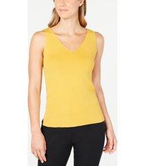 anne klein double v-neck sleeveless top