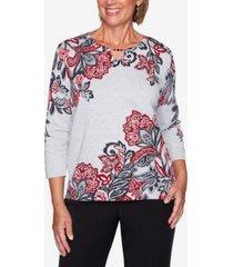 women's missy knightsbridge station paisley scroll print sweater