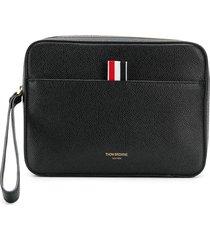 thom browne textured zip pouch - black
