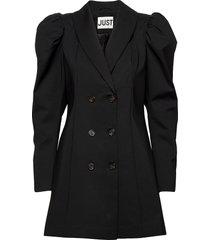 elsi blazer dress kort klänning svart just female
