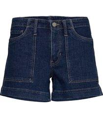 mid-rise 4 utility denim short shorts denim shorts blå banana republic