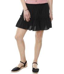 falda corta capas negro mujer corona