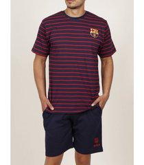 polo shirt korte mouw admas for men pyjama shorts t-shirt rayas fc barcelona admas