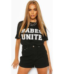 babes unite slogan t-shirt