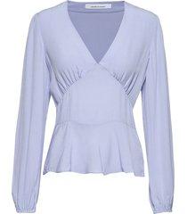 cindy blouse 10056 blouse lange mouwen blauw samsøe & samsøe