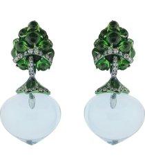 flower fruit earrings