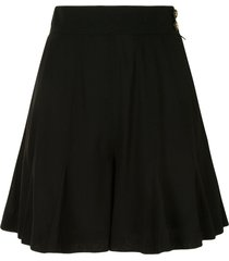 chanel pre-owned high-waisted pleated skorts - black