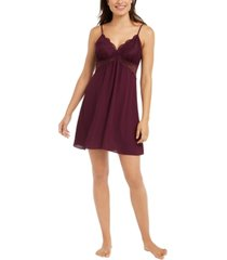 inc lace cut out chemise nightgown, created for macy's