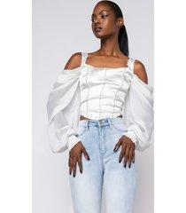 akira enchanted rhinestone detail off the shoulder blouse