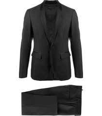 dsquared2 black virgin wool-silk suit